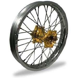 Pro Wheel Pro Wheel 2.15x18 MX Rear Wheel   Silver Rim/Gold Hub