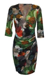 Zack Green Finger Spot Print Mini Wrap Dress BNWTs S/M & M/L RRP £48