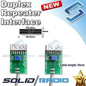 Repeater Interface cable Motorola radio CDM1250 GM300 M1225