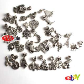 Tibetan Silver Mixed Style Charm Pendant Dangle Bead Fit European