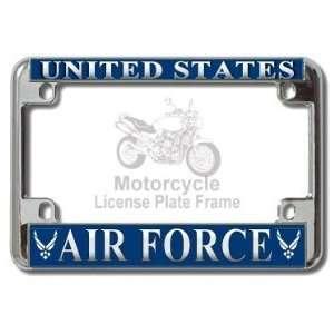 Motorcycle   US AIR Force USAF Chrome Metal Motorcycle License Plate