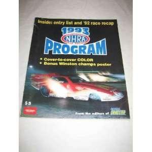 NHRA Championship Drag Racing Program 1993 Cruz Pedregon
