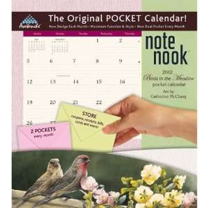 Birds in the Meadow 2012 Note Nook Wall Calendar