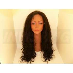 Full Lace Wig length 20, Color 1b, Texture Body Wave