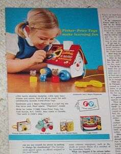 1968 advertising Fisher Price CUTE little girl PRINT AD