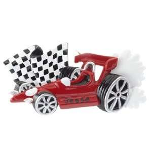 Personalized Indy Race Car Christmas Ornament