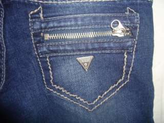 NWT WOMENS GUESS DAREDEVIL STRAIGHT LEG JEANS 00 23