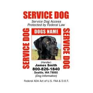 SERVICE DOG ID Badge   1 Dogs Custom ID Badge   Design#2