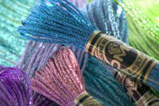 EFFECTS EMBROIDERY FLOSS COLLECTION 6 SKEINS FREE CROSS STITCH PATTERN