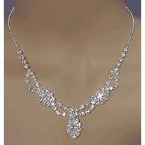 Rhinestone Wedding Prom Pagaent Necklace Set Everything