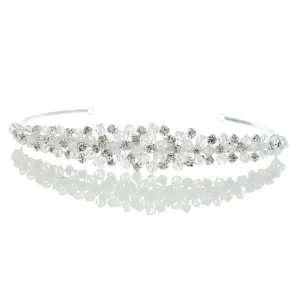 Wedding Clear Rhinestone Crystal Beads Prom Headband Tiara Beauty
