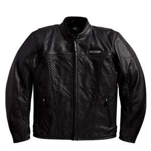 BRAND NEW Harley Davidson Mens FXRG Leather Perfotrated Jacket