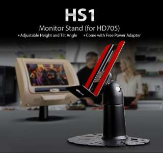 Monitor Stand for XTRONS HD705 Car Headrest DVD Player