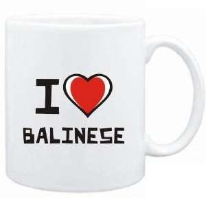 Mug White I love Balinese  Cats