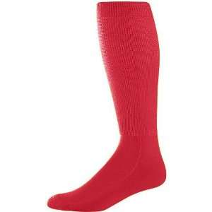Soccer Socks RED ADULT (TUBE SOCK SIZE 10 13) Sports & Outdoors