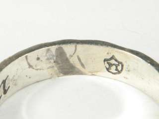LOVELY ANTIQUE SOLID SILVER ENGRAVED POSY POESY RING NR
