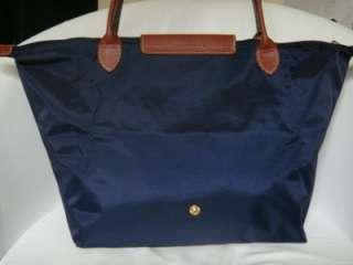 Longchamp NEW Le Pliage Tote Bag Handbag navy LONG Larg