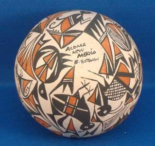 NATIVE AMERICAN ACOMA PUEBLO INDIAN POTTERY BERLEEN ESTEVAN
