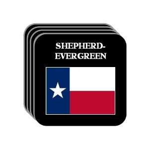 US State Flag   SHEPHERD EVERGREEN, Texas (TX) Set of 4 Mini Mousepad