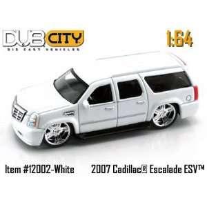 Jada Dub City Pearl White 2007 Cadillac Escalade ESV 164