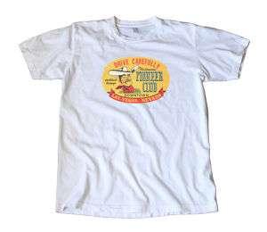 Vintage Las Vegas Pioneer Club Travel Decal T Shirt