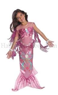 Pink Mermaid Child Costume includes Sleeveless Pink Mermaid Dress with