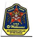 WILLIAMS 1989 POLICE FORCE PINBALL BUMPER STICKER