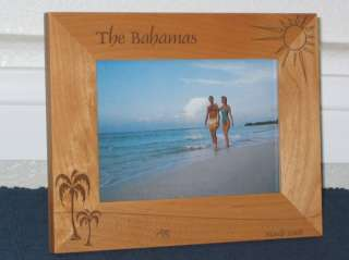 Palm Tree Picture Frame Personalized Engraved Souvenir