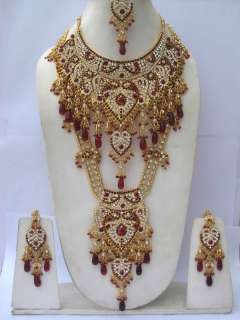 INDIAN LATEST TRENDY BOLLYWOOD DAZZLING COMPLETE WEDDING JEWELRY