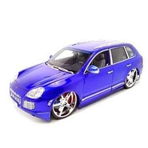 Porsche Cayenne Turbo Playerz 1:18 Blue Diecast Model