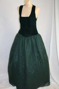 VINTAGE 80S PERIOD PARTY PROM ball gown DRESS M mother of the bride