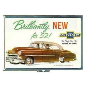 1952 CHEVROLET CAR AUTO AD ID Holder, Cigarette Case or Wallet MADE