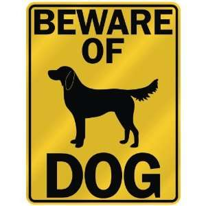 BEWARE OF  FLAT COATED RETRIEVER  PARKING SIGN DOG