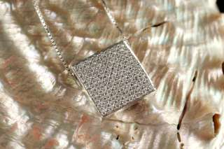 2550 18K SOLID WG (WHITE GOLD) MOSSO PAVE DIAMOND PENDANT