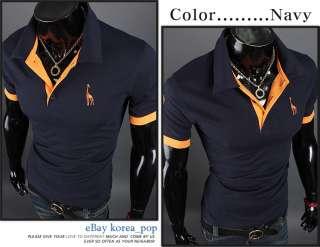 Slim fit mens giraffe knit short sleeve shirts polo neck collar casual