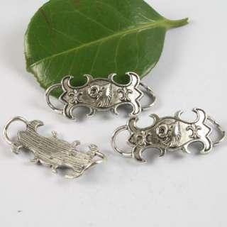 18pcs Tibetan silver patter charm link h0670