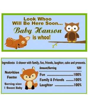 Forest Creatures Animals Owl Baby Shower Invitation 1st Birthday