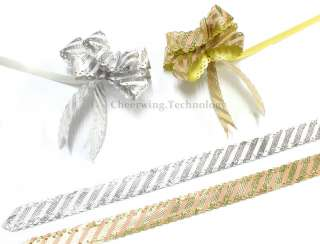 40pcs 12x230mm Pull Flower Ribbon Bow Gift Wrap 2 Color
