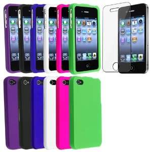 Bundle Snap on Rubberized Cases Covers ( Hot Pink, White, Dark Blue