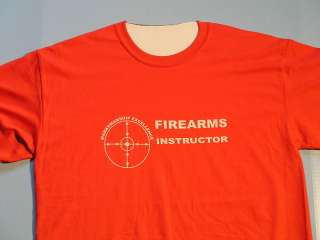 FIREARMS INSTRUCTOR T SHIRT S XX ( RED ) LONG LASTING