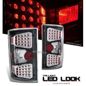 Diamond Cut LED Style Tail Light with Chrome Center Ring