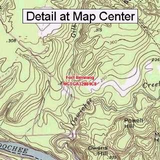Topographic Quadrangle Map   Fort Benning, Georgia (Folded/Waterproof