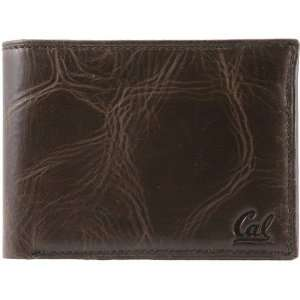 Fossil Cal Golden Bears Brown Leather Traveler Wallet