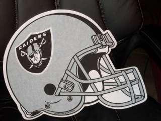 Oakland Raiders Die Cut Helmet Pennant NFL Felt made in USA
