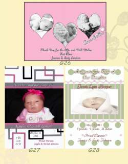 Baby Birth / Birthday Announcements We Personalize with your photos