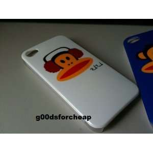 Iphone 4S 4 Monkey Hard TPU Case WHITE Color USA Seller