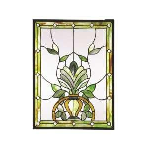 Dale Tiffany SC0079 Maberley Art Glass Window Panel , 18
