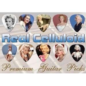 Marilyn Monroe Guitar Picks X 10 (A4) Musical Instruments