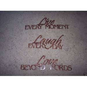 Live, Laugh, Love, Phrase Set Home Decor Antique Copper Metal Wall Art