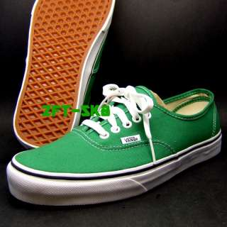 VANS AUTHENTIC GREEN MENS SKATE CASUAL WALK SHOES JELLY BEAN TRUE